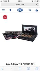 Soap and Glory Perfect 10 Eyeshadow Palette £5 each & Get 3 for £10 (Was £10 each) at Boots Online