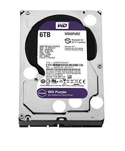Western Digital 6TB Purple Hard drive HDD £144.99 Amazon