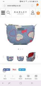 Small Radley cosmetic case. WAS £29 NOW £7. Free click and collect.