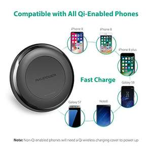 RAVPower Wireless 10W/7.5W Fast Qi Charger with QuickCharge 3.0 Adapter £11.99 delivered Sold by Sunvalleytek-UK and Fulfilled by Amazon