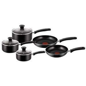 Tefal - Black non-stick aluminium 'Gourmet' 5 piece pan set £48 delivered @ Debenhams