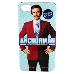 Anchorman Ron Burgundy Iphone 4 Case only 10p at The Works! Free click and collect too!