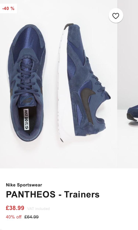 Mens Nike PANTHEOS Trainers now £38.99 @ Zalando