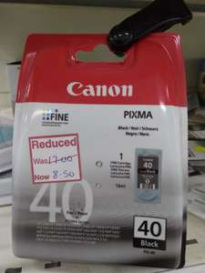 Canon Black ink £8.50 instore at Wilko