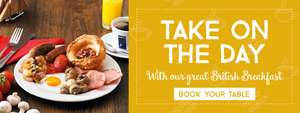 ALL YOU CAN EAT BREAKFAST from £4.29 @ Toby carvery