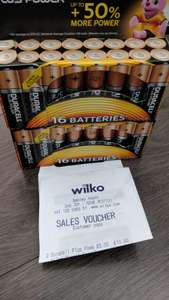 Duracell plus power 16 AA batteries for £5 @ Wilko Bexleyheath