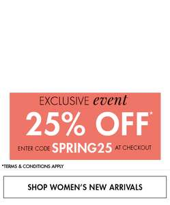 25% off full price items @ M&Co