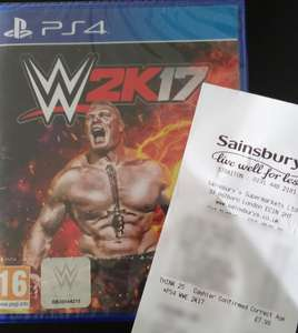 [PS4] WWE 2K17 £7.99 @ Sainsbury's - Straiton, Scotland