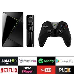 NVIDIA SHIELD TV 16 GB (2017 model) Media Streaming Device with Remote and Controller £150.19 @ Amazon
