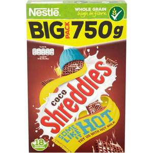 NESTLE CHOCOLATE SHREDDIES CEREAL 750G £1.49 @ Poundstretcher