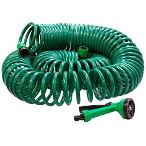 Kink-Resistant Retractable Coil Hose Pipe - 30metre £11.49 @ Robert dyas - Free c&c