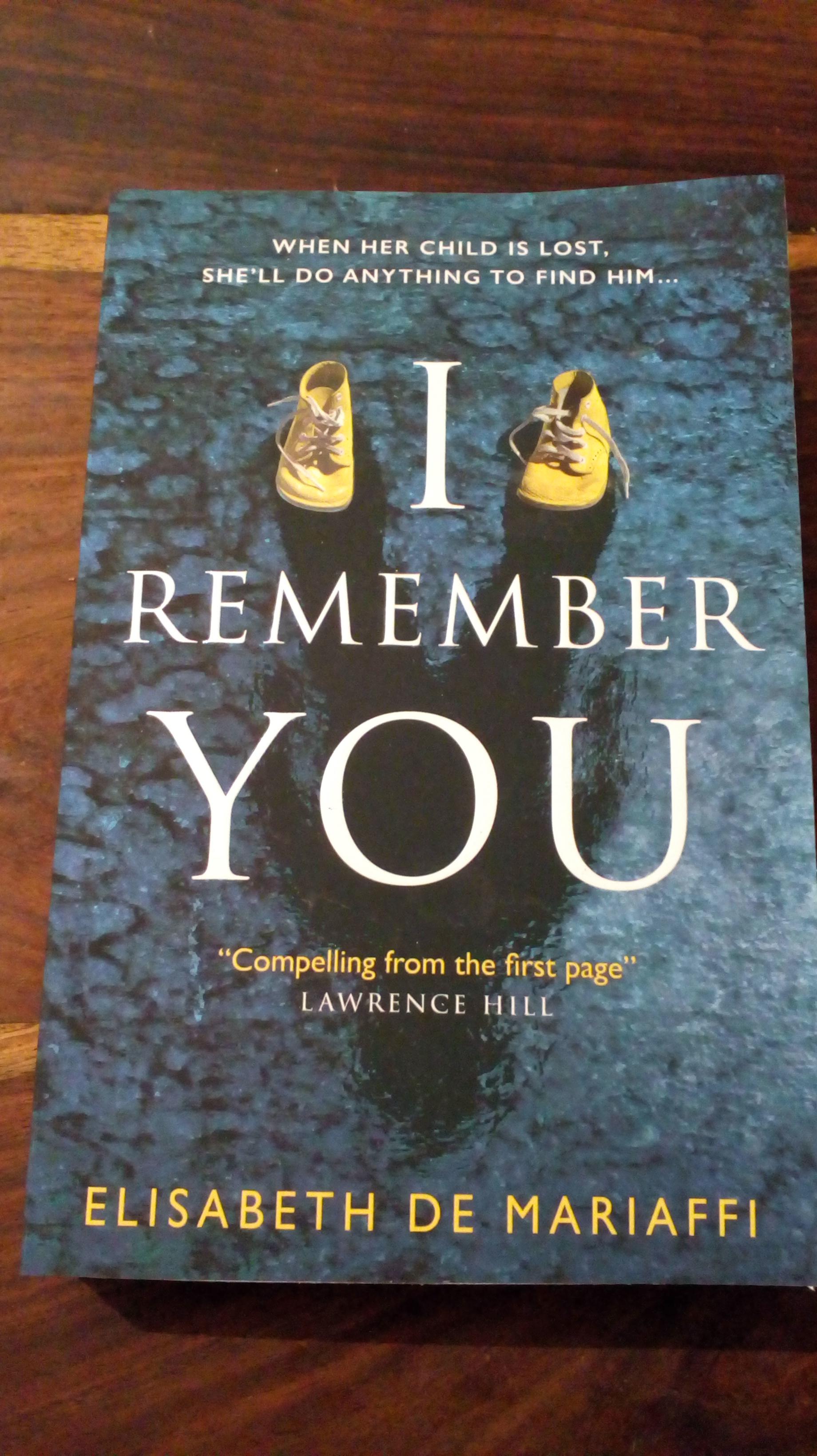 I remember you Elisabeth de Mariaffi Paperback £2 Tesco instore