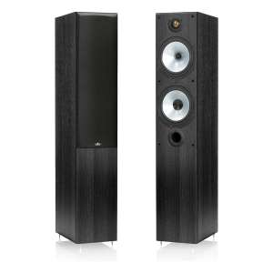 Monitor Audio M4 floorstanding speakers in black - £189 @ Hughes