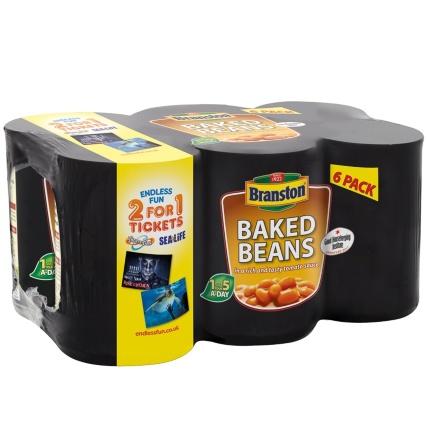 Branston Baked Beans 6 x 410g only £1.50 @ B+M