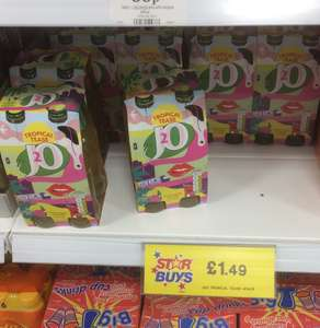 J2O Tropical Tease 4 Pack - £1.49 in Home Bargains