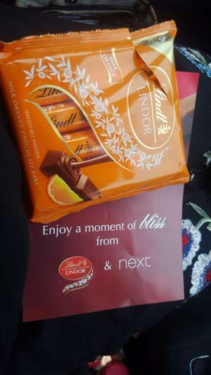 Free 5 pack lindor chocolate from Next - when you collect parcel from store