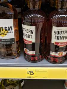 Southern comfort 70cl £15 @ Morrisons & Tesco - in-store and online.