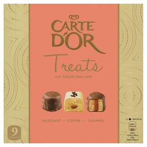 Carte D'Or Mini Treats Ice Cream Pralines 9 x 20ml 69p @ heron