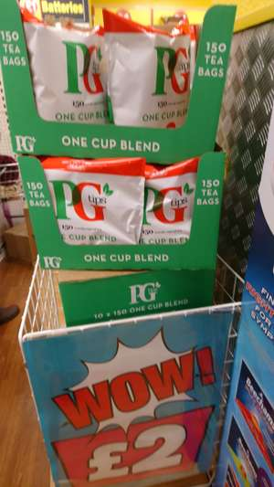 PG tips 150 bags - £2 instore @ poundland