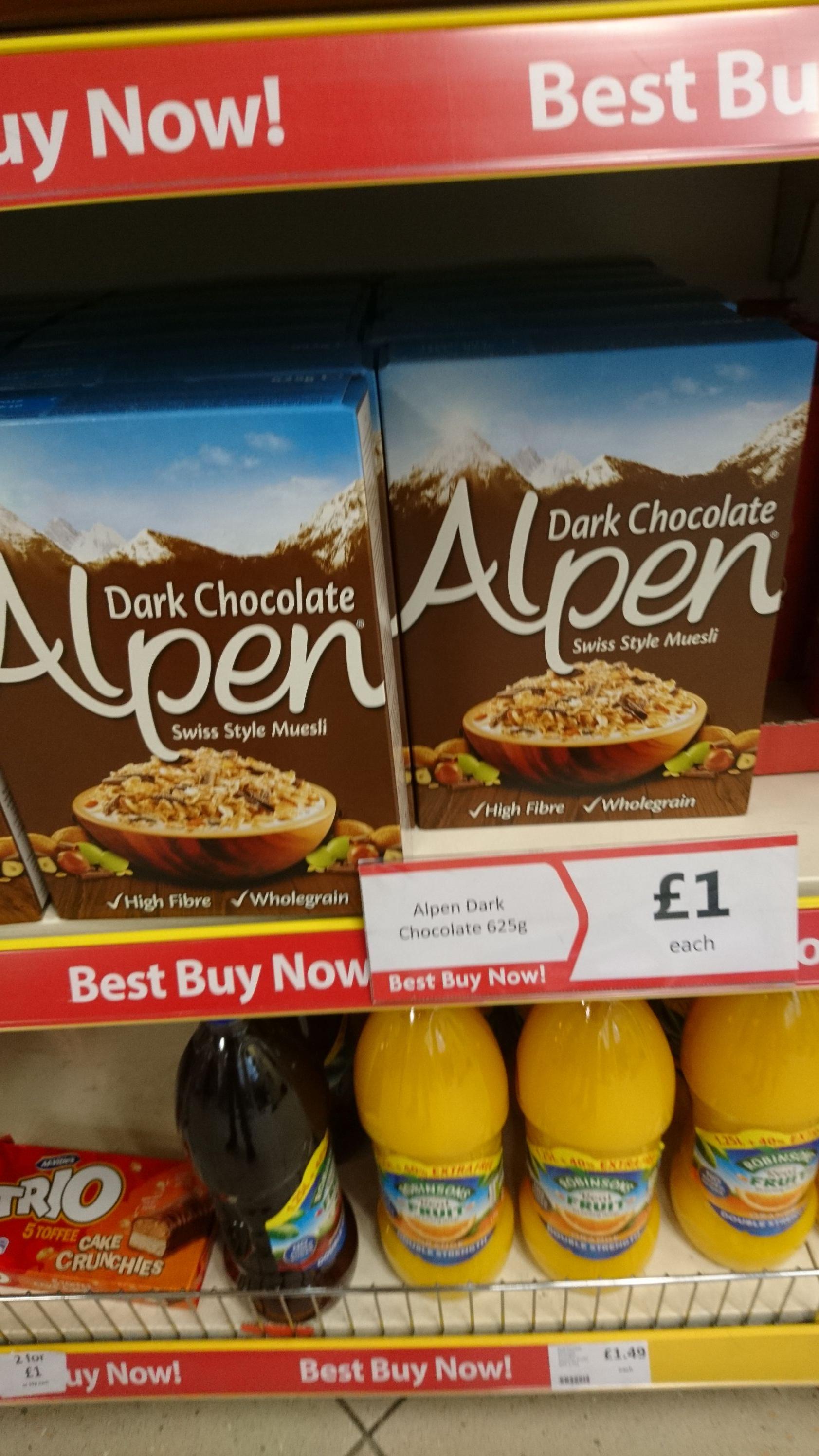Alpen dark chocolate Swiss style muesli - £1 instore @ heron foods