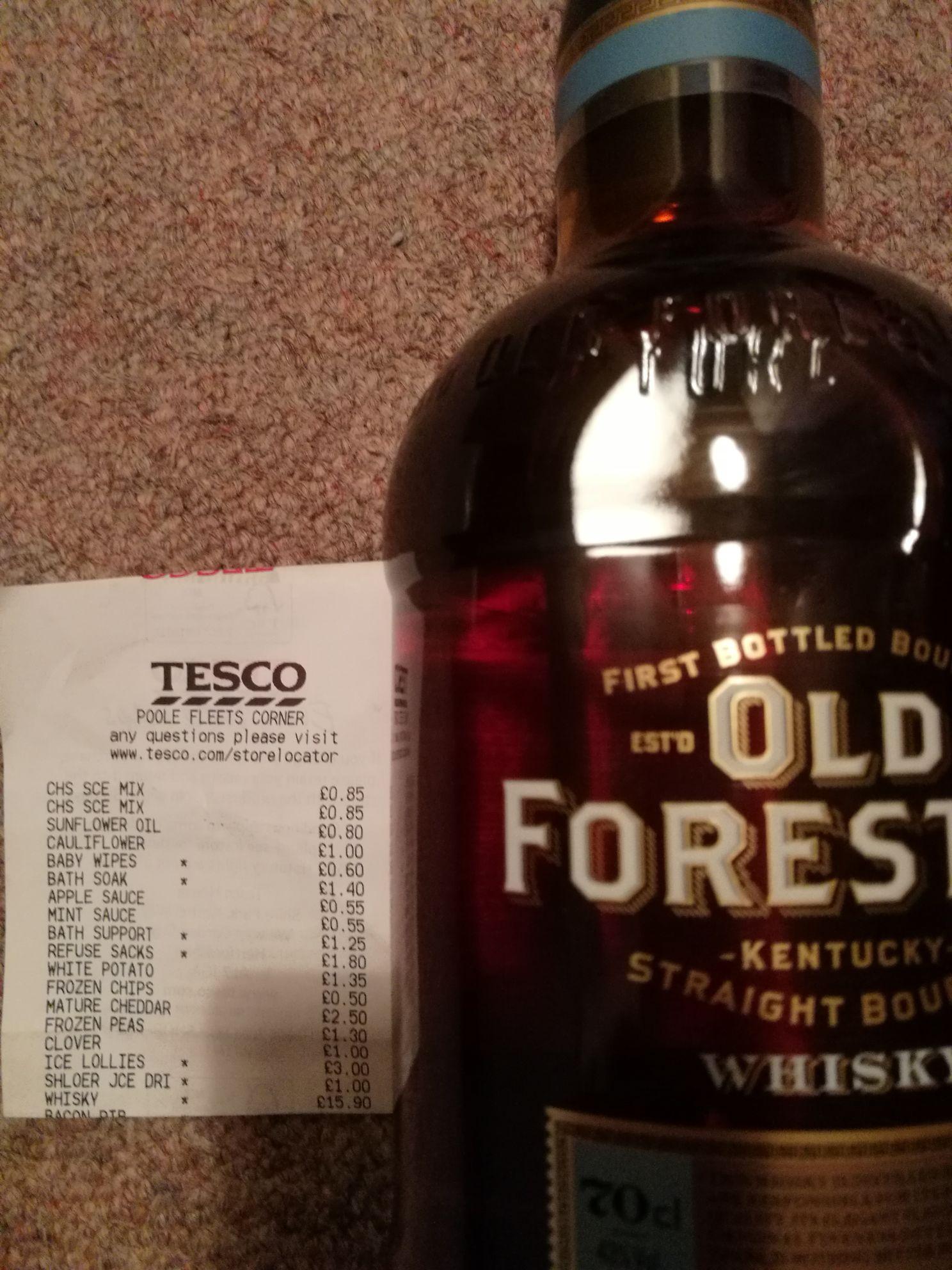 Old Forester Bourbon Whisky - £15.90 instore @ Tesco