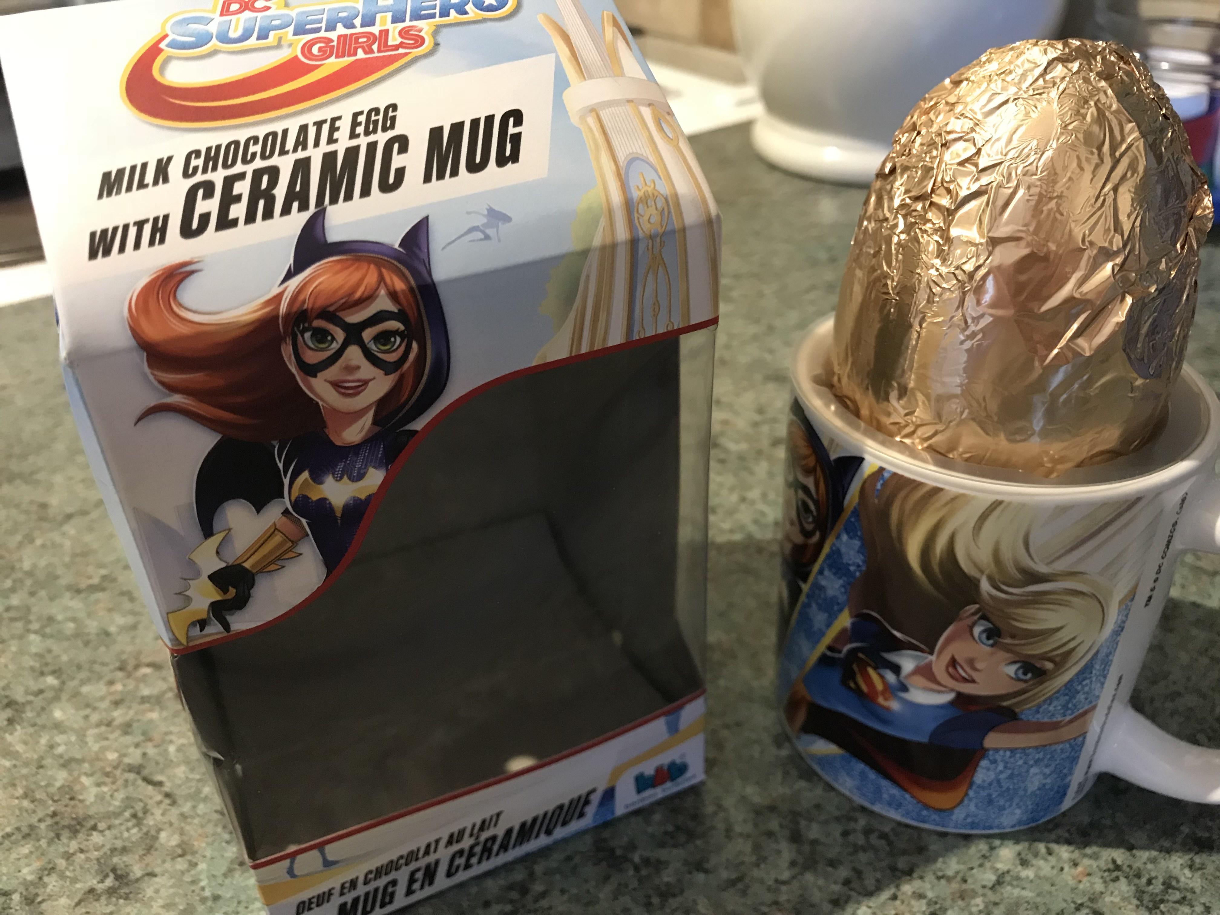 DC SuperHero Girls - Choc Egg and Ceramic Mug @ B&M for 75p instore