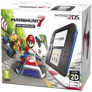 Refurbished -  Nintendo 2DS Black & Blue Console £39.99 - Nintendo 2DS Black & Blue Console with Mario Kart 7 £49.99 (more in OP) @ Argos eBay