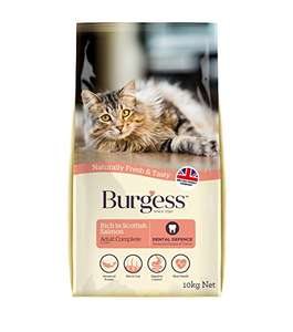 Amazon Burgess Adult Cat Food Rich in Scottish Salmon 10kg £15.67 delivered on S&S