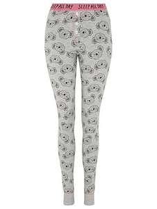 koala bear print womens pyjama leggings size 8-10 now £4 @ Asda
