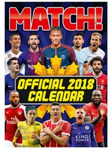 Official Match Calender 25p @ The Works + (Free C+C)