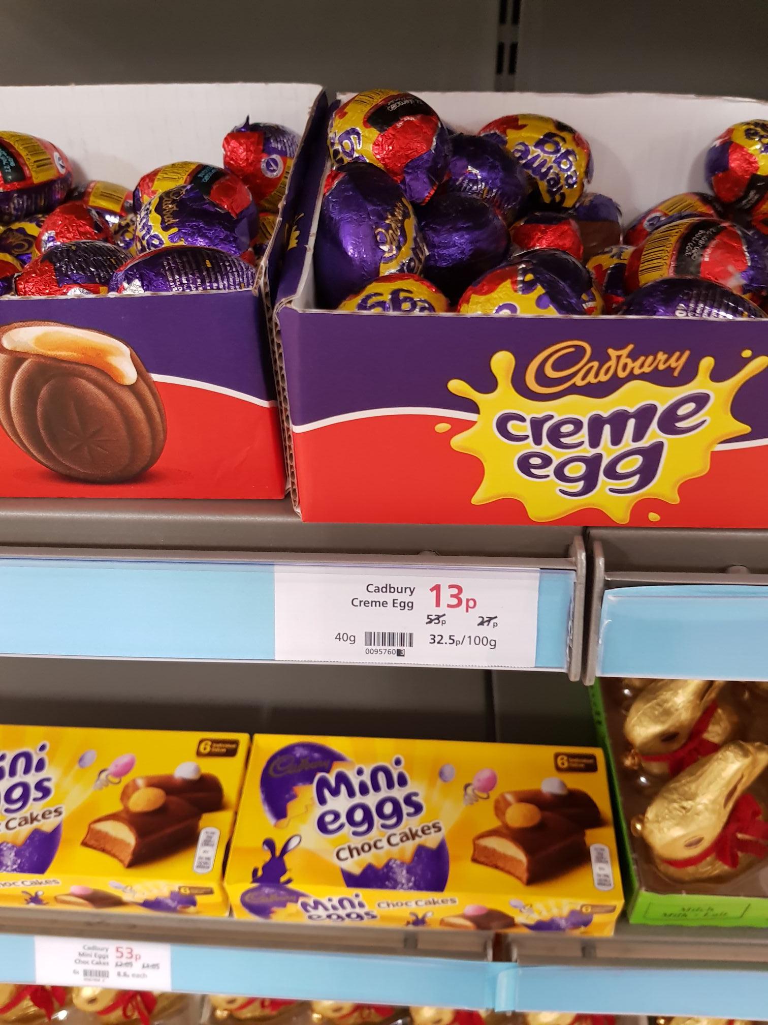 Cadbury creme eggs instore at CoOp instore for 13p
