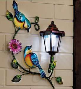 Solar Wall Plaque - Birds £7.99 / £12.98 delivered @ Studio