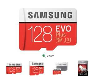 Samsung EVO Plus Micro SDXC UHS-I Card with Adapter - 128GB £29.99 @ Picstop