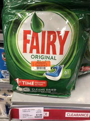 Fairy original dishwasher tablets £4.69 co-op