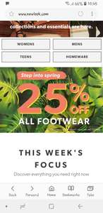 New look have a spring sale with 25% off all footwear