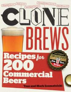 Clone Brews, 2nd Edition: Recipes for 200 commercial Beers - £1.58 @ Amazon (Kindle Edition)
