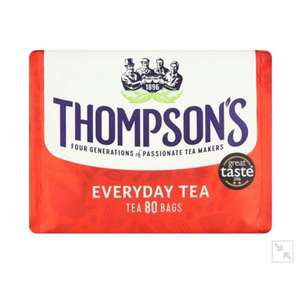 Thompson's Everyday Tea 80 Tea Bags 250g £1.50 @ Morrisons