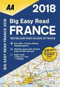 AA Big Easy Read France Map with £10 off European break down cover. £4.19 Prime / £7.18 Non Prime @ AMAZON
