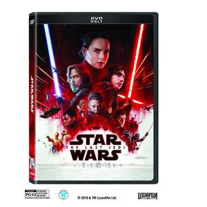 Star wars the last Jedi DVD/Blu-ray with free book from £10 @ sainsbury's