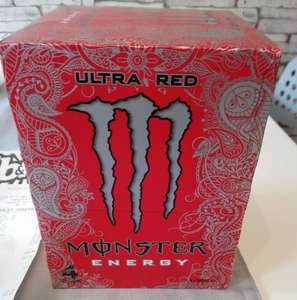 Monster ultra red energy drink 4 x 500ml £3 @ b&m instore