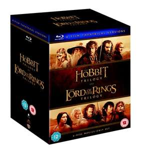 Middle Earth Collection The Hobbit and The Lord Of The Rings 6 Film Collection Extended Edtions 30 discs Blu Ray Box Set Zavvi £45.98 delivered.