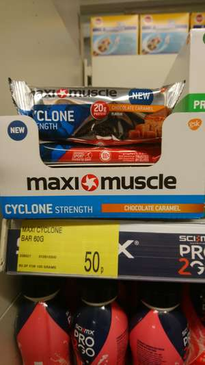 Maxi muscle strength protein bar 20g of protein 50p @ b&m