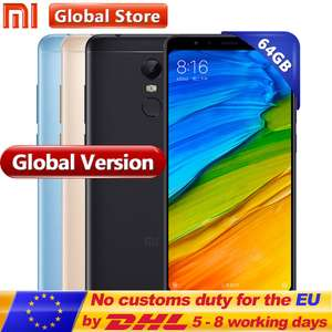 "Global Version Xiaomi Redmi 5 Plus 4GB 64GB Mobile Phone Snapdragon S625 Octa Core MIUI9 5.99"" Full Screen 2160*1080 4000mAh £126.66 for GOLD @ Mi global store /aliexpress"