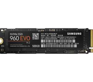 SAMSUNG 960 Evo m.2 Internal SSD - 500 GB with a free copy of Far Cry 5 £190.80 @ Currys - matching Amazon UK