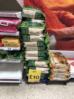 Laila Long Super Basmati Rice 10kg was £17 now £10 (works £1 per kilogram) @ Tesco Extra National Deal