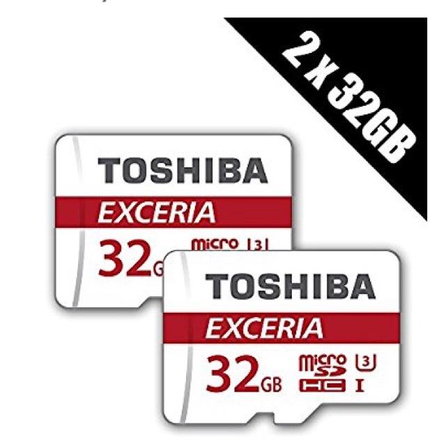 2 X Toshiba 32gb EXCERIA M302 Micro SD (+2.1% Topcashback) +Adapters £16.99 @base