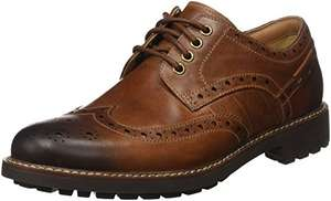Clarks Montacute Wing Lace-Ups Mens - Dark Tan Leather @ amazon - £24