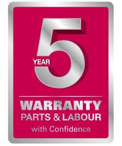 It's back. The free 5 Year Warranty promotion on selected LG Washing Machines!