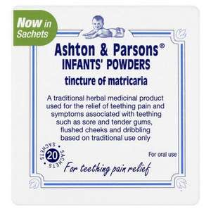 Ashton & Parsons Teething Powders 20 sachets £2.99 (with code SAVE20) @ Lloydspharmacy Free C&C