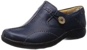 Clarks Women's Un Loop Loafers Navy £19.50 prime £24.25 non prime on Amazon